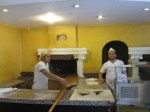 Urfa's kitchen with traditional pizza oven